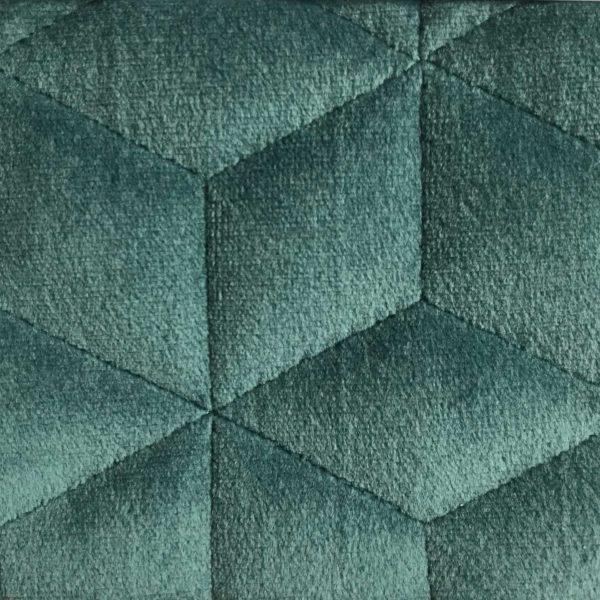 Chemin De Lit Deco Velours Polyester Brumania Bleu Vert Hotel Professionnel Linvosges Hotellerie 1