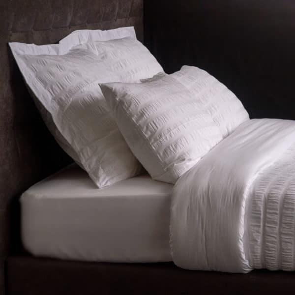 Ligne De Lit Percale Seersucker Ecume Coton 120 Grs M2 Hotel Professionnel Linvosges Hotellerie 2