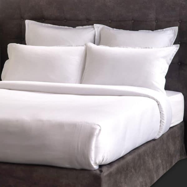 Ligne De Lit Satin Jacquard Ellipse Coton 130 Grs M2 Hotel Professionnel Linvosges Hotellerie