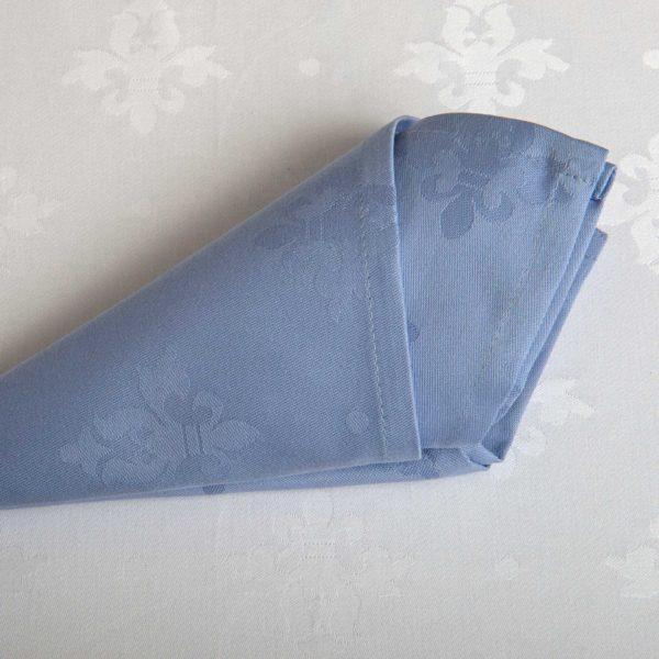 Linge De Table French Lily Light Blue Coton 215 Grs M2 Professionnel Restaurant Linvosges Hotellerie