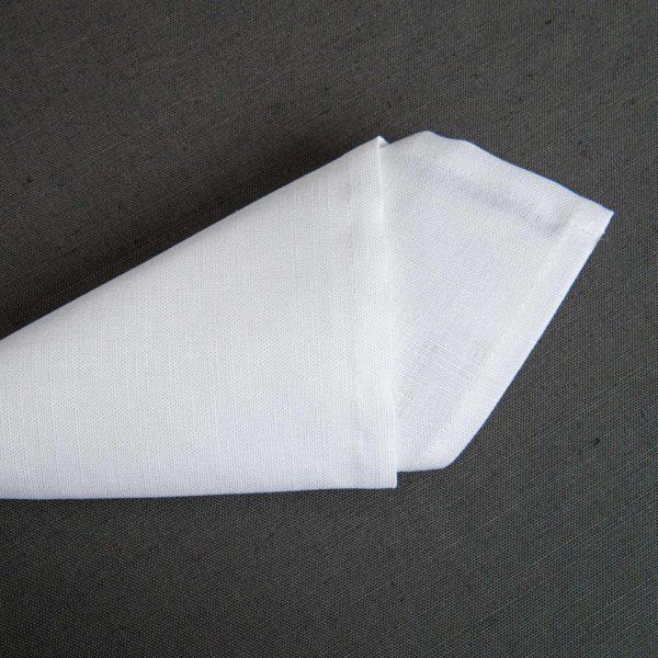 Linge De Table Hotelin Blanc 52 Pour Cent Lin 48 Pour Cent Coton 230 Grs M2 Professionnel Restaurant Linvosges Hotellerie