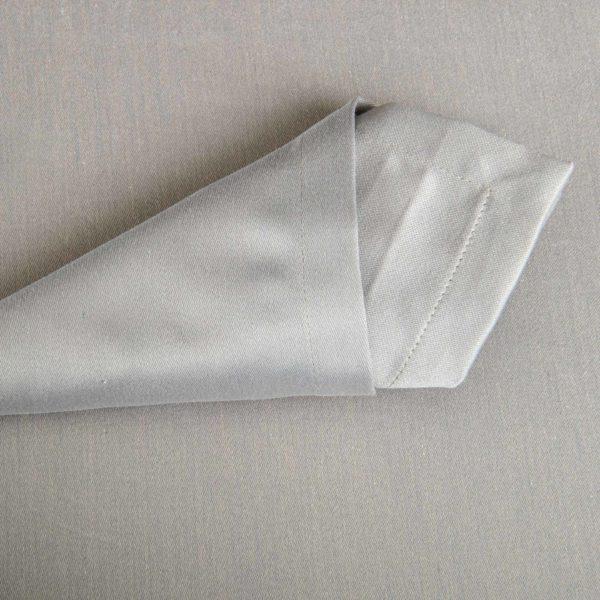 Linge De Table Monza Gris 50 Pour Cent Polyester 50 Pour Cent Coton 233 Grs M2 Professionnel Restaurant Linvosges Hotellerie