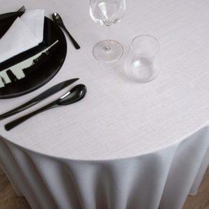 Nappe Ronde Bolzano 45 Pour Cent Lin 55 Pour Cent Polyester 237 Grs M2 Professionnel Restaurant Linvosges Hotellerie