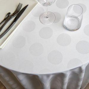 Nappe Ronde Bulles Coton 230 Grs M2 Professionnel Restaurant Linvosges Hotellerie 2