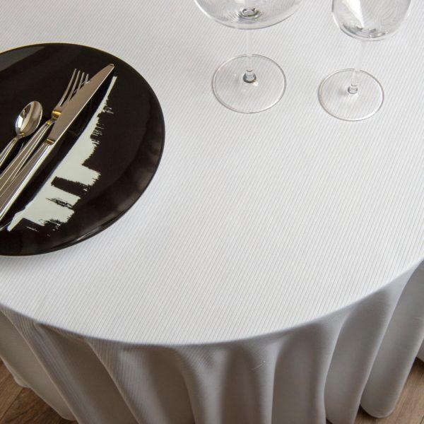 Nappe Ronde Cote De Cheval Coton 310 Grs M2 Professionnel Restaurant Linvosges Hotellerie 2
