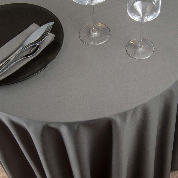 Nappe Ronde French Uni Coton 215 Grs M2 Professionnel Restaurant Linvosges Hotellerie 2