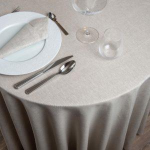 Nappe Ronde Lin Cornovaglia Lin 265 Grs M2 Professionnel Restaurant Linvosges Hotellerie 2