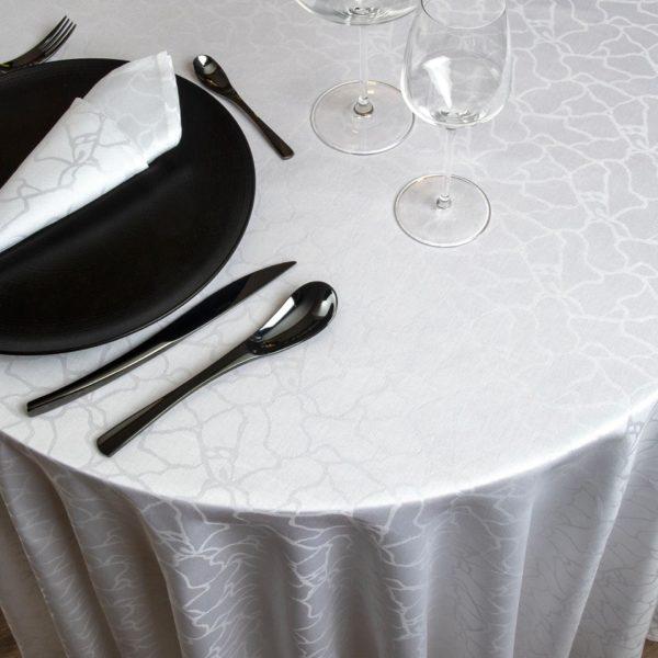Nappe Ronde Marble Coton 200 Grs M2 Professionnel Restaurant Linvosges Hotellerie 2