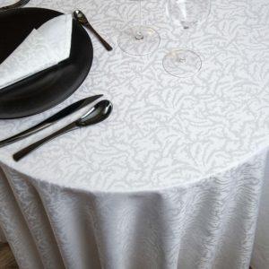 Nappe Ronde Moire Coton 200 Grs M2 Professionnel Restaurant Linvosges Hotellerie 2