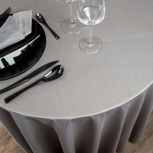 Nappe Ronde Monza 50 Pour Cent Polyester 50 Pour Cent Coton 233 Grs M2 Professionnel Restaurant Linvosges Hotellerie 2