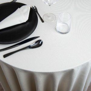 Nappe Ronde Ribes 51 Pour Cent Coton 49 Pour Cent Polyester 280 Grs M2 Professionnel Restaurant Linvosges Hotellerie