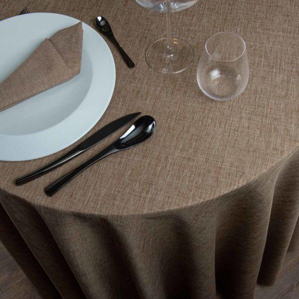 Nappe Ronde Saumur Polyester 286 Grs M2 Professionnel Restaurant Linvosges Hotellerie