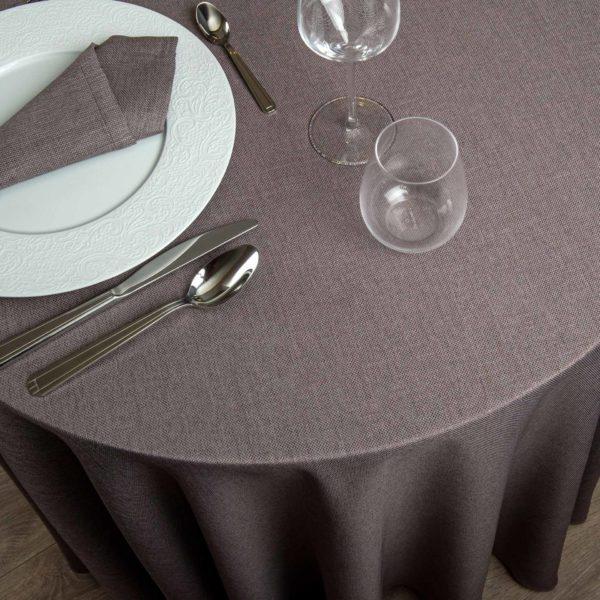 Nappe Ronde Sienne Polyester 195 Grs M2 Professionnel Restaurant Linvosges Hotellerie