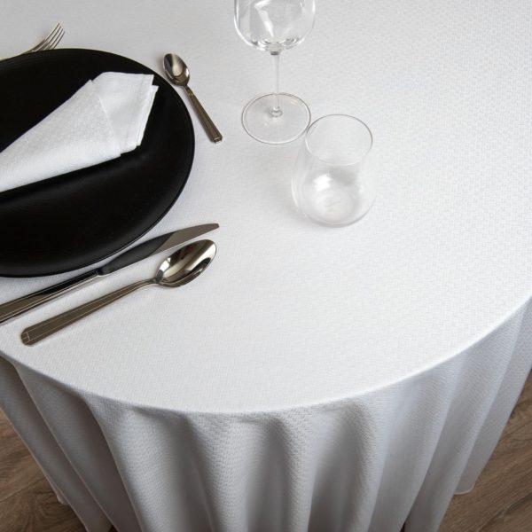 Nappe Ronde Tribeca 52 Pour Cent Polyester 48 Pour Cent Coton 240 Grs M2 Professionnel Restaurant Linvosges Hotellerie