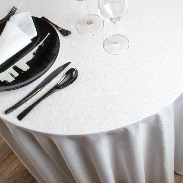 Nappe Ronde Vendome Coton 190 Grs M2 Professionnel Restaurant Linvosges Hotellerie