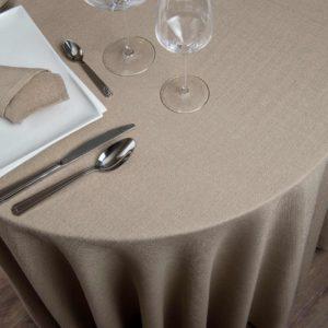 Nappe Ronde Yucca 52 Pour Cent Polyester 48 Pour Cent Coton 245 Grs M2 Professionnel Restaurant Linvosges Hotellerie