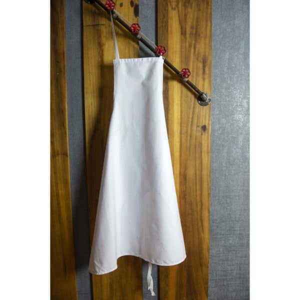 Tablier De Cuisine à Bavette Séraphin Blanc Coton 270grs/m²